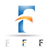 Abstract icon for letter F Royalty Free Stock Image