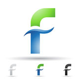 Abstract icon for letter F Stock Photos