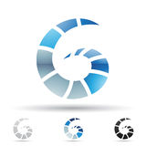 Abstract icon for letter G Royalty Free Stock Photos