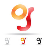 Abstract icon for letter G Stock Photo