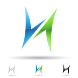 Abstract icon for letter H Royalty Free Stock Image