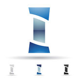 Abstract icon for letter I Royalty Free Stock Images