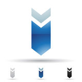 Abstract icon for letter I Royalty Free Stock Photos