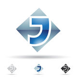 Abstract icon for letter J Royalty Free Stock Photo