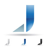 Abstract icon for letter J Royalty Free Stock Image