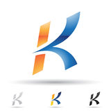 Abstract icon for letter K Royalty Free Stock Images