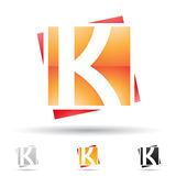 Abstract icon for letter K Stock Photos