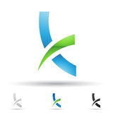 Abstract icon for letter K Stock Photography
