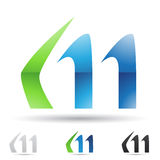 Abstract icon for letter M Stock Images