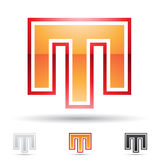 Abstract icon for letter M Royalty Free Stock Photo