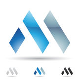 Abstract icon for letter M Stock Photo