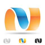 Abstract icon for letter N Royalty Free Stock Image