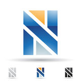 Abstract icon for letter N Stock Image
