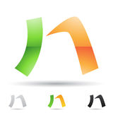 Abstract icon for letter N Stock Images