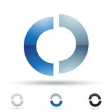 Abstract icon for letter O Royalty Free Stock Photo
