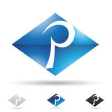 Abstract icon for letter P Royalty Free Stock Photo
