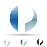 Abstract icon for letter P Stock Photo