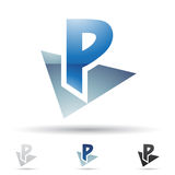 Abstract icon for letter P Royalty Free Stock Photography