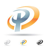 Abstract icon for letter P Royalty Free Stock Image