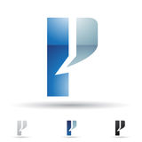 Abstract icon for letter P Stock Images