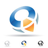 Abstract icon for letter Q Stock Photography