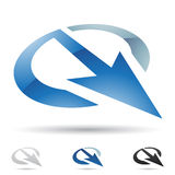 Abstract icon for letter Q Stock Image