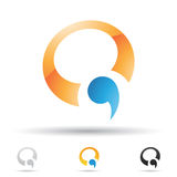 Abstract icon for letter Q Royalty Free Stock Photos