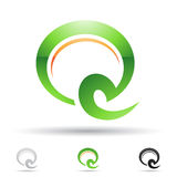 Abstract icon for letter Q Royalty Free Stock Images