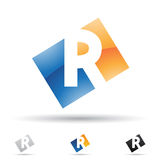 Abstract icon for letter R Royalty Free Stock Photography