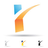 Abstract icon for letter R Royalty Free Stock Image