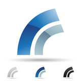 Abstract icon for letter R Royalty Free Stock Photos