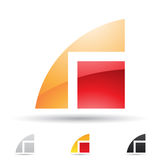 Abstract icon for letter R Stock Photo