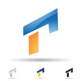 Abstract icon for letter R Royalty Free Stock Photo