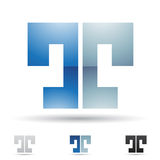Abstract icon for letter T Royalty Free Stock Photos