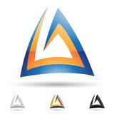 Abstract icon for letter A Stock Photos