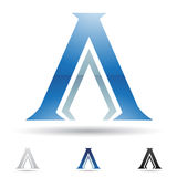 Abstract icon for letter A Stock Images