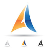 Abstract icon for letter A Royalty Free Stock Photo