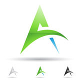 Abstract icon for letter A Royalty Free Stock Image