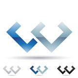 Abstract icon for letter W Royalty Free Stock Image