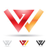Abstract icon for letter W Royalty Free Stock Images