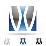 Abstract icon for letter W Royalty Free Stock Photography