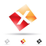 Abstract icon for letter X Stock Photo