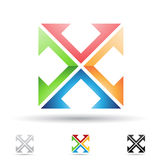 Abstract icon for letter X Stock Photography