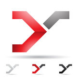 Abstract icon for letter Y Royalty Free Stock Photography