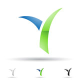 Abstract icon for letter Y Royalty Free Stock Images