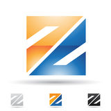 Abstract icon for letter Z Royalty Free Stock Photos