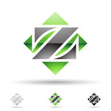 Abstract icon for letter Z Stock Photos