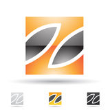 Abstract icon for letter Z Stock Photo
