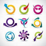 Abstract icon set Royalty Free Stock Photos