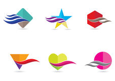 Abstract icon set Stock Photography
